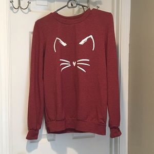 Red cat sweater